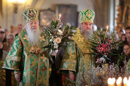 Вербное воскресение в Новодевичьем монастыре