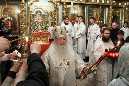 Пасха в Новодевичьем монастыре