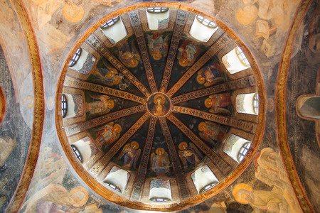 Купол Parecclesion Хора церкви в Стамбуле, Турция.