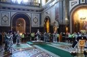 Литургия в храме Спасиьеля