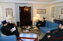 Состоялась встреча митрополита Волоколамского Илариона со Святейшим Патриархом Константинопольским Варфоломеем