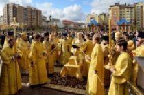 Предстоятель Русской Церкви освятил Богоявленский собор в Новом Уренгое