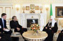 Состоялась встреча Святейшего Патриарха Кирилла с генеральным секретарем Всемирного совета церквей Олафом Фюксе Твейтом