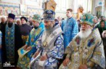 Митрополит Киевский Онуфрий возглавил Божественную литургию в Успенском кафедральном соборе Балтской епархии