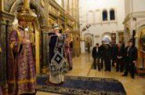 В канун субботы 1-й седмицы Великого поста Святейший Патриарх Кирилл совершил утреню в Зачатьевском ставропигиальном монастыре
