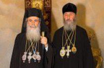 Состоялась встреча Блаженнейшего Патриарха Иерусалимского Феофила III с Предстоятелем Украинской Православной Церкви