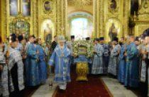 В канун праздника Казанской иконы Божией Матери Предстоятель Русской Церкви совершил всенощное бдение в Богоявленском кафедральном соборе в Елохове