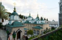 Святейший Патриарх Кирилл прибыл в Русский на Афоне Пантелеимонов монастырь