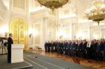 Святейший Патриарх Кирилл присутствовал на выступлении Президента России В.В. Путина, обратившегося с Посланием к Федеральному Собранию