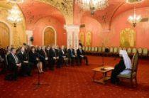 Митрополит Волоколамский Иларион встретился со слушателями Высших дипломатических курсов