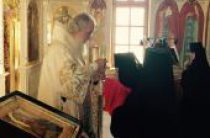 В праздник Собора Смоленских святых Святейший Патриарх Кирилл совершил Божественную литургию в храме свв. равноапп. Кирилла и Мефодия духовно-административного центра Русской Православной Церкви на Юге России