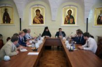 Состоялось заседание рабочей группы по реставрации Высоко-Петровского ставропигиального монастыря