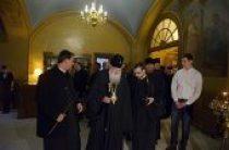 В канун Великой Среды Святейший Патриарх Кирилл принял участие в вечернем богослужении в Иоанно-Предтеченском ставропигиальном монастыре