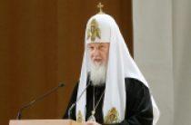 В день памяти великомученика Георгия Победоносца Предстоятель Русской Церкви совершил Литургию в Георгиевском храме на Поклонной горе в Москве