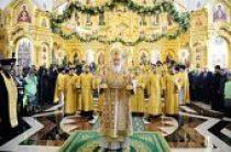 Предстоятель Русской Церкви совершил освящение храма и памятника святым равноапостольных Кириллу и Мефодию в Саранске