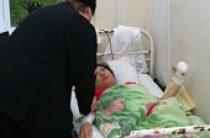 Священники на Сахалине навестили пострадавших в результате сильного циклона