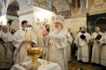 В Крещенский сочельник Святейший Патриарх Кирилл совершил Литургию и чин великого освящения воды в Храме Христа Спасителя г. Москвы