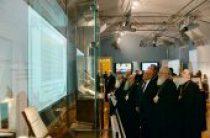 Святейший Патриарх Кирилл осмотрел выставку, посвященную истории Святейшего Синода, в Президентской библиотеке в Санкт-Петербурге