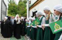 Святейший Патриарх Кирилл посетил Воскресенский храм в городе Плёс Ивановской области
