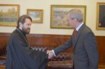 Митрополит Волоколамский Иларион встретился с послом Великобритании в России