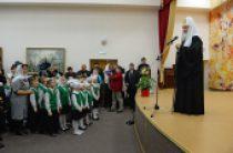 Святейший Патриарх Кирилл посетил Новоуренгойскую православную гимназию