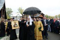 Святейший Патриарх Кирилл посетил Макариевский кафедральный храм г. Горно-Алтайска