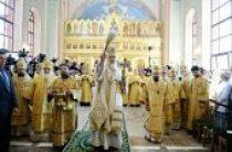Предстоятель Русской Церкви освятил домовый храм святого равноапостольного Владимира в Московском епархиальном доме