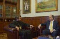Председатель Отдела внешних церковных связей встретился с послом Болгарии в России