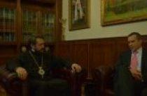 Председатель ОВЦС встретился с послом Словении и председателем Общества «Словения-Россия»