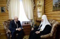 Состоялась беседа Святейшего Патриарха Кирилла с губернатором Нижегородской области В.П. Шанцевым