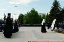 Святейший Патриарх Кирилл возложил венок к обелиску Вечной славы в Ульяновске