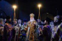 В канун недели 1-й Великого поста Святейший Патриарх Кирилл совершил всенощное бдение в Сретенском ставропигиальном Москвы