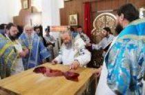 Предстоятель Украинской Православной Церкви совершил освящение храма Благовещения Пресвятой Богородицы в Коростышеве