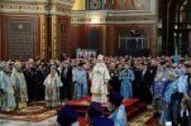В праздник Покрова Пресвятой Богородицы Предстоятель Русской Церкви освятил Войсковой всеказачий кафедральный собор в Новочеркасске
