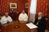 Святейший Патриарх Кирилл принял настоятеля базилики святителя Николая в Бари и эконома-администратора базилики святителя Николая в Риме