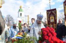 В праздник Сретения Господня Блаженнейший митрополит Онуфрий совершил Литургию в киевском храме Воскресения Христова, построенном в память об участниках войны в Афганистане
