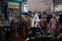 В Неделю 5-ю Великого поста Предстоятель Русской Церкви совершил Литургию в Александро-Свирском монастыре