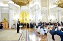 Святейший Патриарх Кирилл посетил торжественный прием в Кремле по случаю Дня Победы
