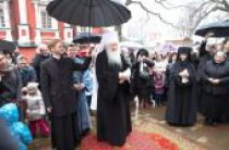 В праздник Благовещения Пресвятой Богородицы митрополит Крутицкий и Коломенский Ювеналий совершил Литургию в Новодевичьем монастыре столицы