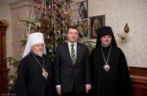 Состоялась встречамитрополита Рижского и всея Латвии Александра с президентом Латвийской Республики Раймондсом Вейонисом
