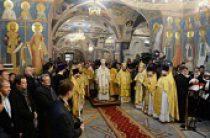 Предстоятель Русской Церкви совершил освящение храма Усекновения главы Иоанна Предтечи под Бором г. Москвы и Литургию в новоосвященном храме