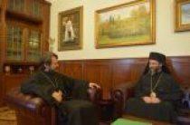 Архиепископ Охридский Иоанн посетил Отдел внешних церковных связей Московского Патриархата