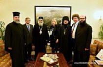 Предстоятель Антиохийской Православной Церкви принял делегацию Императорского православного палестинского общества