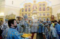 В праздник Рождества Пресвятой Богородицы Святейший Патриарх Кирилл совершил Литургию в новоосвященном храме святителя Димитрия Ростовского в Барнауле