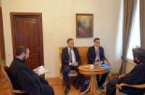 Председатель ОВЦС встретился с президентом сербского Центра по содействию международному сотрудничеству и стабильному развитию