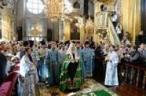 Предстоятель Русской Церкви совершил Божественную литургию в Успенском кафедральном соборе г. Смоленска