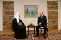 Состоялась встреча Святейшего Патриарха Кирилла с губернатором Алтайского края А.Б. Карлиным