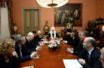 Святейший Патриарх Кирилл встретился с членами Бюро Президиума Всемирного русского народного собора