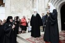 Святейший Патриарх Кирилл посетил Владычний Введенский женский монастырь в подмосковном Серпухове